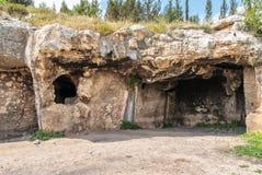 Grottor som lokaliseras i den Lachish regionen av Israel Royaltyfria Foton