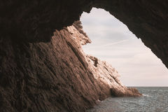 Grottos at coast Stock Photography