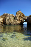Grottos in Lagos. South of Portugal stock image