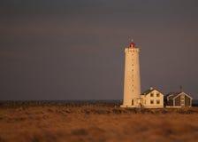 Grottuviti Lighthouse. Located in Grotta, Reykjavik Stock Photos