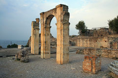 Groty Di Catullo ruiny, Sermione, Włochy Zdjęcia Stock