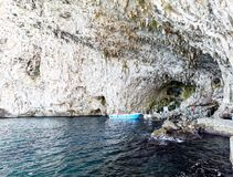 Grotzinzuluza, kust dichtbij Otranto, Apulia, Italië Stock Foto