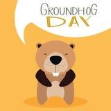 Groudhog day background Royalty Free Stock Image