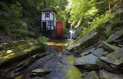 Groudle Glen Waterwheel Royalty Free Stock Photos