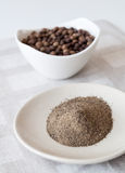 Ground allspice pepper stock images