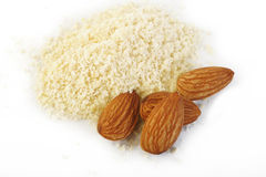 Ground almond and almond Royalty Free Stock Photo