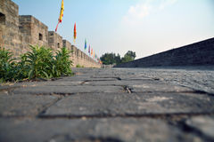 Ground of ancient old town Dali Stock Image