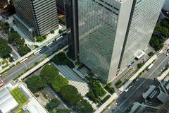 The ground as seen from the Shinjuku high-rise building Royalty Free Stock Photo