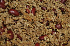 Ground Beed and Kidney Beans Royalty Free Stock Images