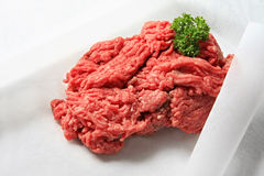 Ground Beef. Lean fresh ground beef, on butcher's paper, ready for cooking Royalty Free Stock Photography
