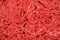 Ground beef background. With details Stock Photos