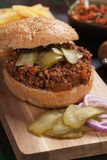 Ground beef burger sandwich Royalty Free Stock Images