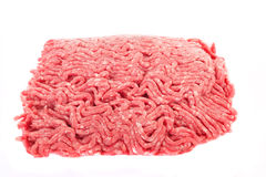 Ground Beef Isolated on White royalty free stock photo