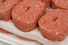 Ground Beef Patties Stock Images