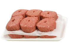 Ground Beef Patties in Container Royalty Free Stock Photography