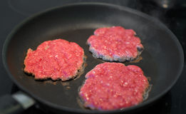 Ground beef patties. Stock Photography