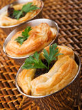 Ground beef puff pastry Stock Images