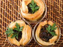 Ground beef puff pastry Stock Photography