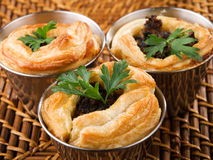 Ground beef puff pastry Royalty Free Stock Photo