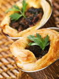 Ground beef puff pastry Royalty Free Stock Images
