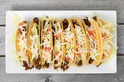 Ground beef tacos Royalty Free Stock Photo