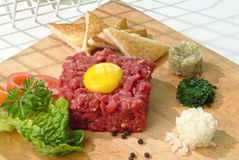 Ground beef tartar Stock Photo