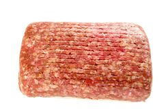 Ground Beef in Tray Stock Photo