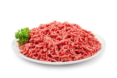 Ground beef on white Royalty Free Stock Photo