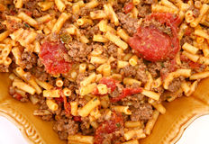 Ground Bison and Cheddar Macaroni Stock Image