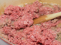 Ground bison meat Stock Photography