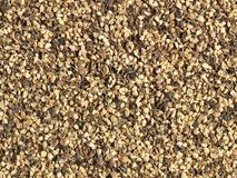 Ground black pepper. (coarse) - close-up; can be used as a background royalty free stock photography