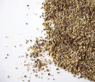 Ground black pepper. On white background Stock Photography
