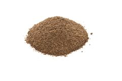 Ground black pepper. isolated on white Royalty Free Stock Images