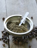 Ground black pepper Stock Photography
