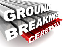 Ground breaking ceremony. Words on white background, concept of exceptional ceremonial even vector illustration