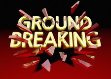 Ground Breaking Glass Shattering Words Big News Royalty Free Stock Photography