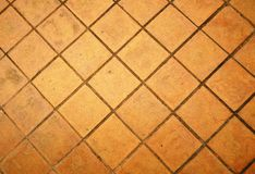 Ground bricks,Brick flooring Royalty Free Stock Photo