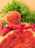 Ground Cayenne Pepper Royalty Free Stock Photography