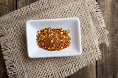 Ground cayenne pepper in bowl Royalty Free Stock Photo