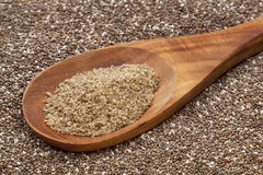 Ground chia seeds Stock Photos