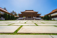 Ground Before Chinese Temple. Wide Shot Of Ground Before Chinese Temple Royalty Free Stock Photos