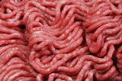 Ground Chuck (beef). Ground beef, shot up close Royalty Free Stock Photo
