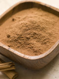 Ground Cinnamon Powder with Cinnamon Bark Stock Image