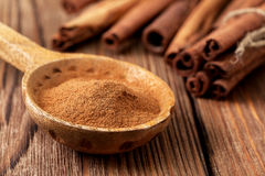 Ground cinnamon Stock Photos