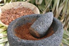 Ground cocoa Stock Image
