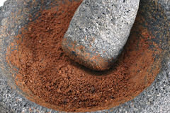 Ground cocoa Stock Photography
