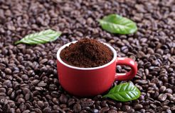 Ground coffee Stock Photo