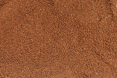 Ground coffee. Texture in close-up stock photos
