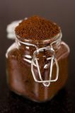 Ground coffee is Arabica Stock Photography