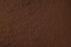 Ground coffee background. Ground black coffee food abstract background stock images